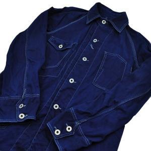 藍染め カバーオール ツイル 琉球藍染め メンズ 羽織 男性|studio-ichi|05