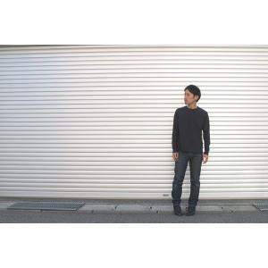 メンズ ピグメントダイ ロングスリーブ Tシャツ クルーネック ヴィンテージ加工|studio-ichi|06