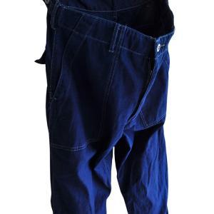 藍染め ファティーグパンツ アーミー 琉球藍染め メンズ Mサイズ ミリタリー|studio-ichi|03
