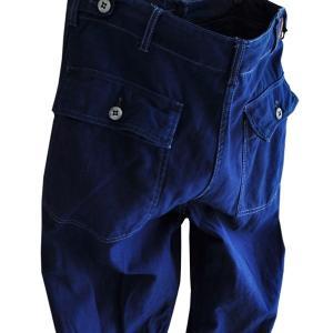 藍染め ファティーグパンツ アーミー 琉球藍染め メンズ Mサイズ ミリタリー|studio-ichi|04