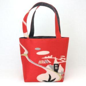 着物 ランチバッグ 和柄 トートバッグ 赤家|studio-ichi