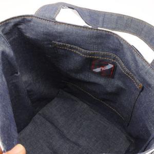 着物 ランチバッグ 和柄 トートバッグ 緑縞|studio-ichi|03