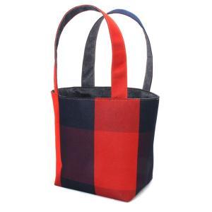 着物 ランチバッグ 和柄 トートバッグ 紺赤|studio-ichi|02
