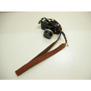 カメラストラップ 一眼レフ 和柄 デジカメストラップ 着物45朱縦縞 studio-ichi