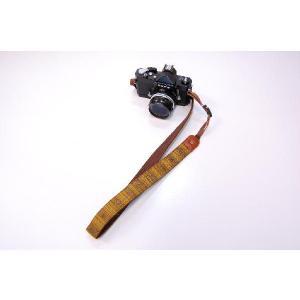 カメラストラップ 一眼レフ 和柄 デジカメストラップ 着物50黄紬|studio-ichi