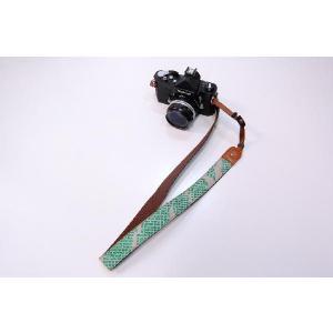カメラストラップ 一眼レフ 和柄 デジカメストラップ 着物54緑絞り|studio-ichi