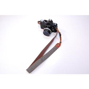 カメラストラップ 一眼レフ 和柄 デジカメストラップ 着物65茶格子|studio-ichi