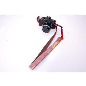 カメラストラップ 一眼レフ 和柄 デジカメストラップ 着物68赤絣