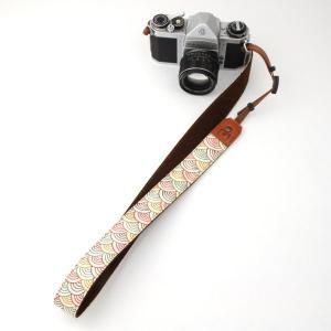 カメラストラップ 一眼レフ 和柄 デジカメストラップ 着物n30色波|studio-ichi