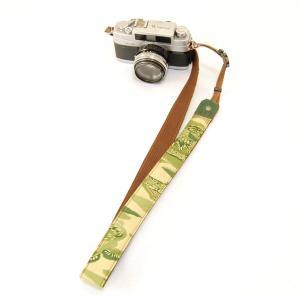 【敬老の日 ギフト】 カメラストラップ 一眼レフ 和柄 デジカメストラップ 着物n12緑家|studio-ichi