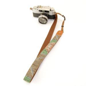 カメラストラップ 一眼レフ 和柄 デジカメストラップ 着物n14茶緑