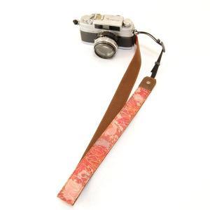 カメラストラップ 一眼レフ 和柄 デジカメストラップ 着物n15葉模様
