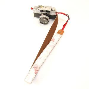 カメラストラップ 一眼レフ 和柄 デジカメストラップ 着物n7桃梅|studio-ichi