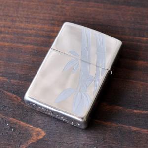 純銀 ZIPPO 和柄 竹柄 シルバー ジッポライター スターリングシルバー 和風 高級 studio-ichi