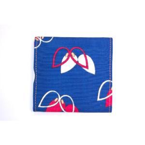 着物カードケース 青レトロ 和柄カードケース studio-ichi 02
