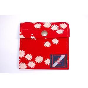 着物カードケース 赤小菊 和柄カードケース|studio-ichi