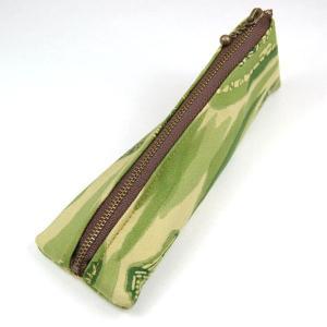 着物 和柄 ペンケース 筆箱 緑家|studio-ichi
