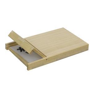 桐 マホガニー 名刺ケース 木製 ウッド カードケース フロントオープン|studio-ichi|04