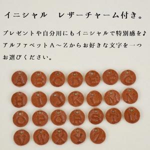 イカリ 真鍮 ネックレス イニシャル レザーチャーム|studio-ichi|02