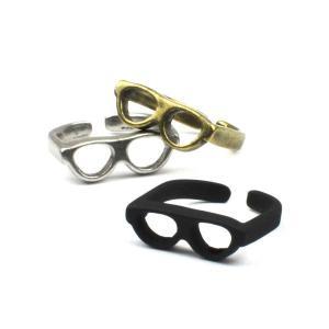 めがね 眼鏡 メガネ リング 指輪 メンズ レディース|studio-ichi