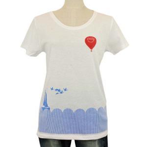 レディース Tシャツ 半袖 気球 ヨット ZIOZIO|studio-ichi