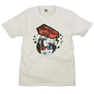 SALE メンズ Tシャツ 半袖 メガネ 女子 ポップ イラスト 写真 ZIOZIO|studio-ichi