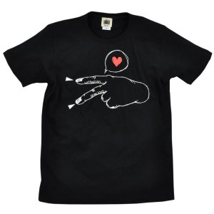 SALE メンズ Tシャツ 半袖 ラブピース 手 平和 ZIOZIO|studio-ichi
