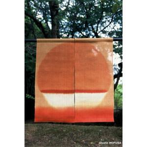 暖簾 のれん N-0708 本麻 半間 90cmx195cm|studio-mofusa