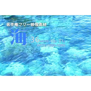 著作権フリー映像素材【海】36ムービー収録/ハイビジョン画質