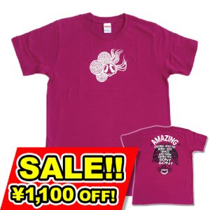 SALE 和柄 デザイン 半袖 Tシャツ プリント オリジナル メール便可 八咫烏「アーガイルパープル」|studiojam