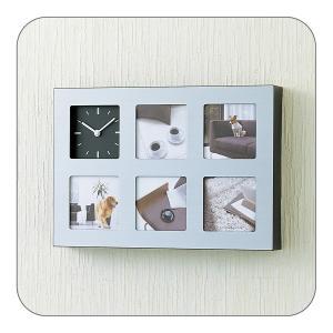 在庫限り フォトフレーム クロックフレーム 写真立て 時計