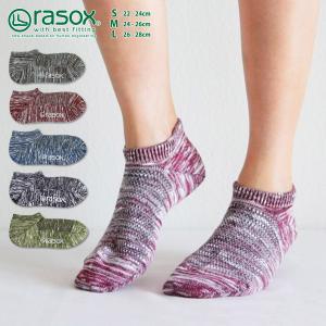 ラソックス クールメッシュ・ロウ rasox 靴下 ソックス 接触冷感 メール便送料無料|style-depot