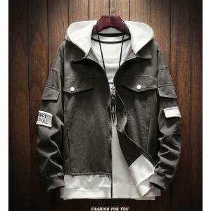 メンズ ジャケット フード付 トップス おしゃれ ファッション グレー|style-on-stage