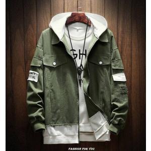 メンズ ジャケット フード付 トップス おしゃれ ファッション グリーン|style-on-stage