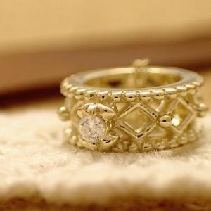 K10 ダイヤモンド アクセサリー ネックレス チェーン付 ゴールド アンティークベビーリング 誕生日プレゼント クリスマスプレゼント クリスマス ギフト 贈り物 style-on-stage