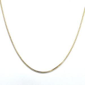 K18 アクセサリー ベネチアンチェーン 18金 ゴールド 最大45cmまで長さ調整可能 線幅0.7mm|style-on-stage