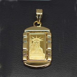 K24 アクセサリー 自由の女神 ペンダント 24金 ゴールド 誕生日プレゼント 贈り物 ギフト BOX付|style-on-stage