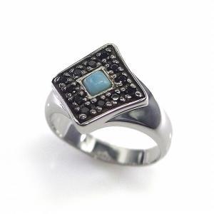 送料無料 シルバーアクセサリー 純銀 シルバー925 ラリマー ブラックスピネル リング 指輪 誕生日 プレゼント ギフト 贈り物 ギフトBOX付|style-on-stage