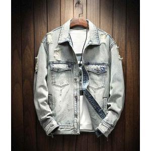 メンズ デニム ジャケット 長袖 おしゃれ ファッション カジュアル|style-on-stage