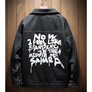 メンズ デニム ジャケット 長袖 おしゃれ ファッション カジュアル ブラック|style-on-stage