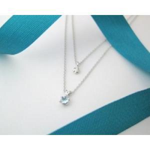 3月の誕生石 アクアマリン シルバーアクセサリー 純銀 シルバー925 ダイヤモンド ネックレス 誕生日プレゼント クリスマスプレゼント クリスマス ギフト 贈り物|style-on-stage