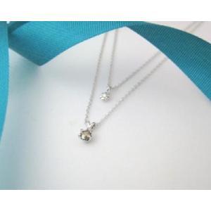 4月の誕生石 ブラウンダイヤモンド シルバーアクセサリー 純銀 シルバー925 ダイヤモンド ネックレス 誕生日プレゼント クリスマスプレゼント ギフト 贈り物|style-on-stage