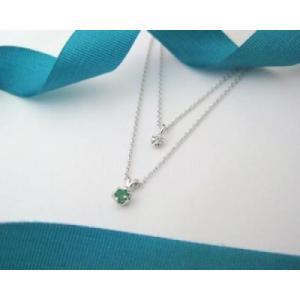 5月の誕生石 エメラルド シルバーアクセサリー 純銀 シルバー925 ダイヤモンド ネックレス 誕生日プレゼント クリスマスプレゼント クリスマス ギフト 贈り物|style-on-stage