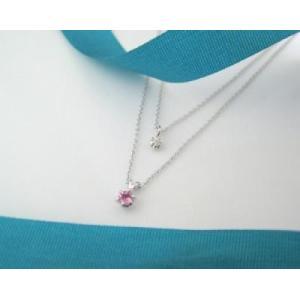 10月の誕生石 ピンクトルマリン シルバーアクセサリー 純銀 シルバー925 ダイヤモンド ネックレス 誕生日プレゼント クリスマスプレゼント ギフト 贈り物|style-on-stage