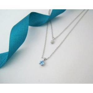 11月の誕生石 ブルートパーズ シルバーアクセサリー 純銀 シルバー925 ダイヤモンド ネックレス 誕生日プレゼント クリスマスプレゼント ギフト 贈り物|style-on-stage