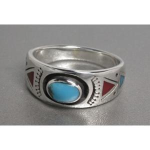 送料無料 シルバーアクセサリー 純銀 シルバー925 リング 指輪 オーバル ターコイズリング サイド インレイワーク|style-on-stage