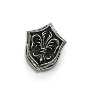送料無料 シルバーアクセサリー 純銀 シルバー925 シルバーコンチョ エンブレム 紋章型 百合の紋章|style-on-stage