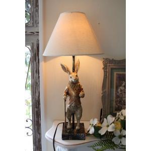 バロックラビットの卓上ランプ・テーブルランプ 25W ウサギのランプ置物 輸入雑貨 シャビーシック アンティーク風 フレンチカントリー|style-rococo