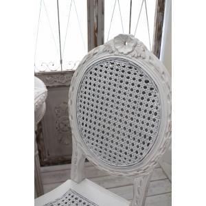 ハンドメイドのフランス家具 ドールチェア・ホワイト 【Blanc de Paris】 椅子 チェア 木製 シャビーシック アンティーク風 アンティーク フレンチ|style-rococo|05