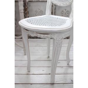 ハンドメイドのフランス家具 ドールチェア・ホワイト 【Blanc de Paris】 椅子 チェア 木製 シャビーシック アンティーク風 アンティーク フレンチ|style-rococo|06